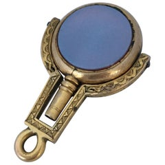 Victorian Gold Filled Sardonyx and Bloodstone Pocket Watch Key / Fob Pendant