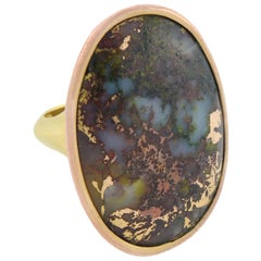 Victorian Gold in Quartz Statement Ring