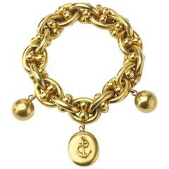 Victorian Gold Locket Nautical Bracelet, circa 1875