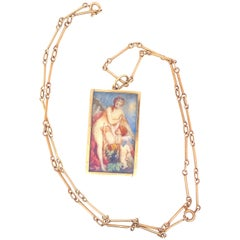 Victorian Gold Portraits Necklace