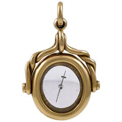 Victorian Gold Revolving Compass Fob Pendant