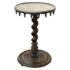 Victorian Gothic Revival Mahogany & Fruitwood Circular Center Table