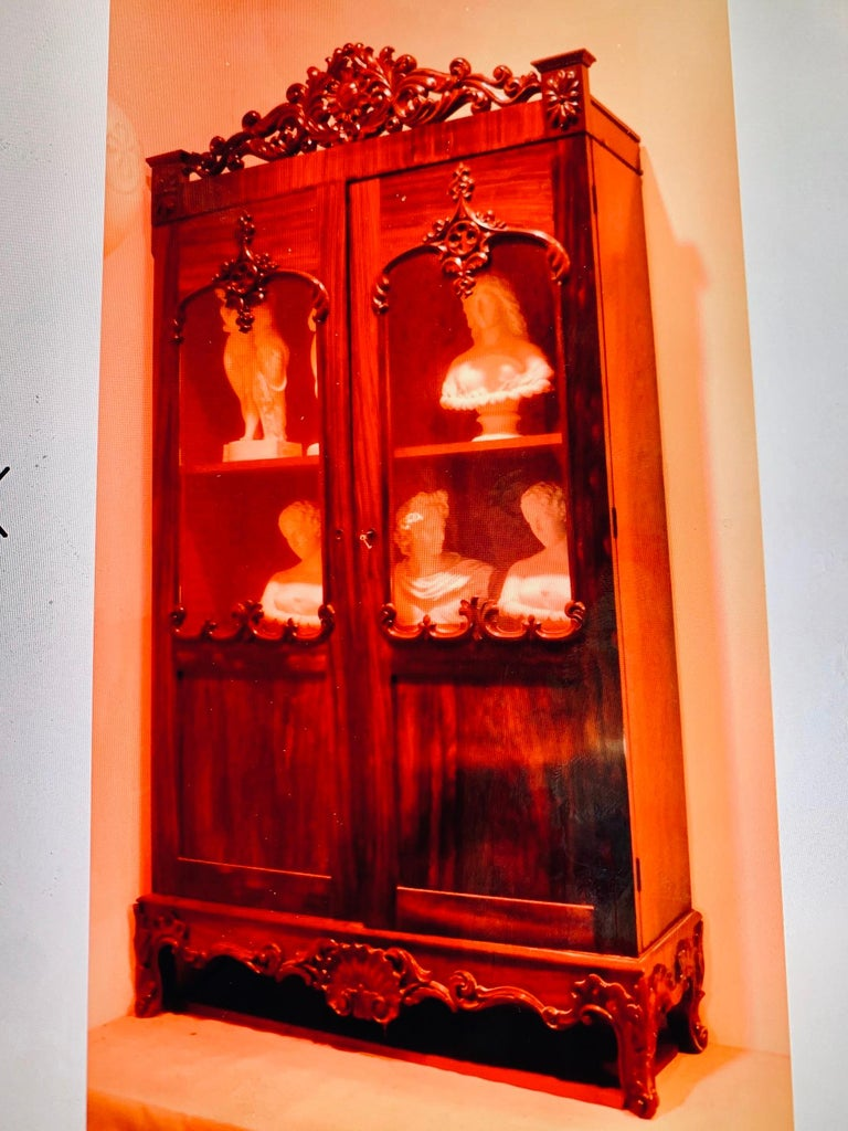 Victorian Gothic Revival Rosewood Bookcase For Sale 4