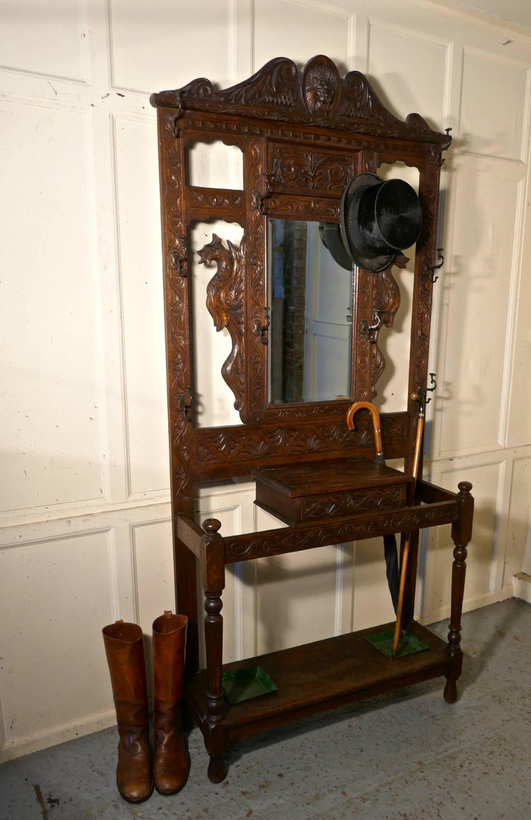 Antique Wrought Iron Coat Stand