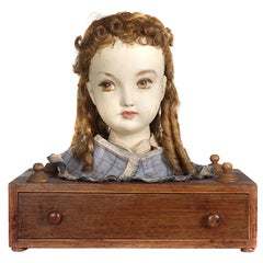 Victorian Hair Styling Doll and Leather Rollers