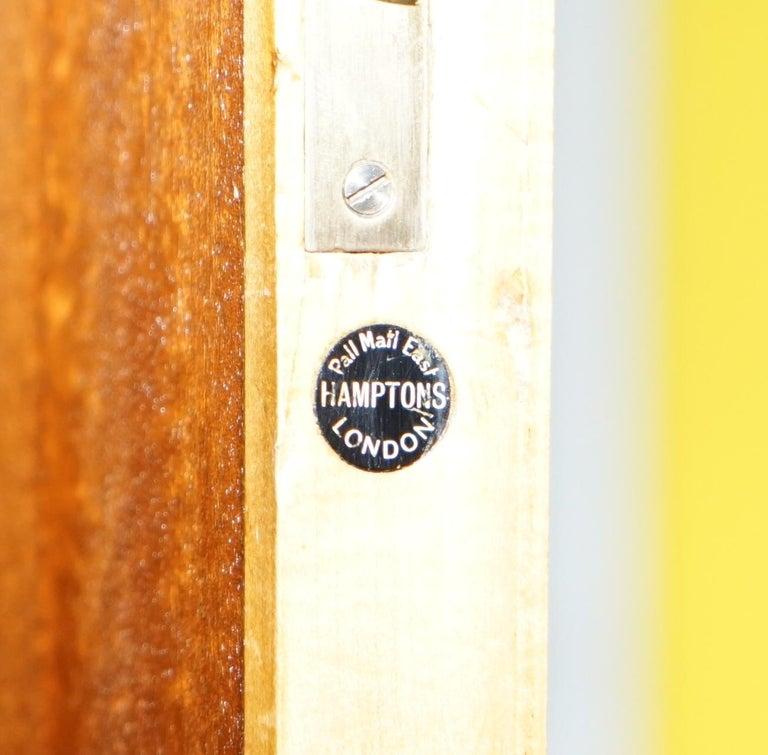 19th Century Victorian Hampton & Son's Satinwood Bedroom Suite Wardrobe Dressing Table Mirror For Sale