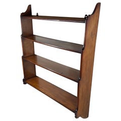 Victorian Hanging Wall Shelves, 4 Tier in Cherry Wood