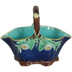 Victorian Holdcroft Majolica Floral Basket
