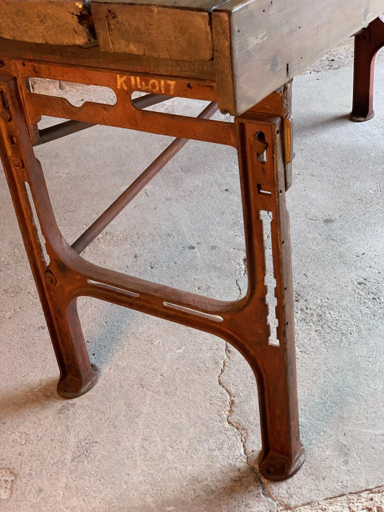 Victorian Industrial Workbench Table, circa 1868 For Sale 2