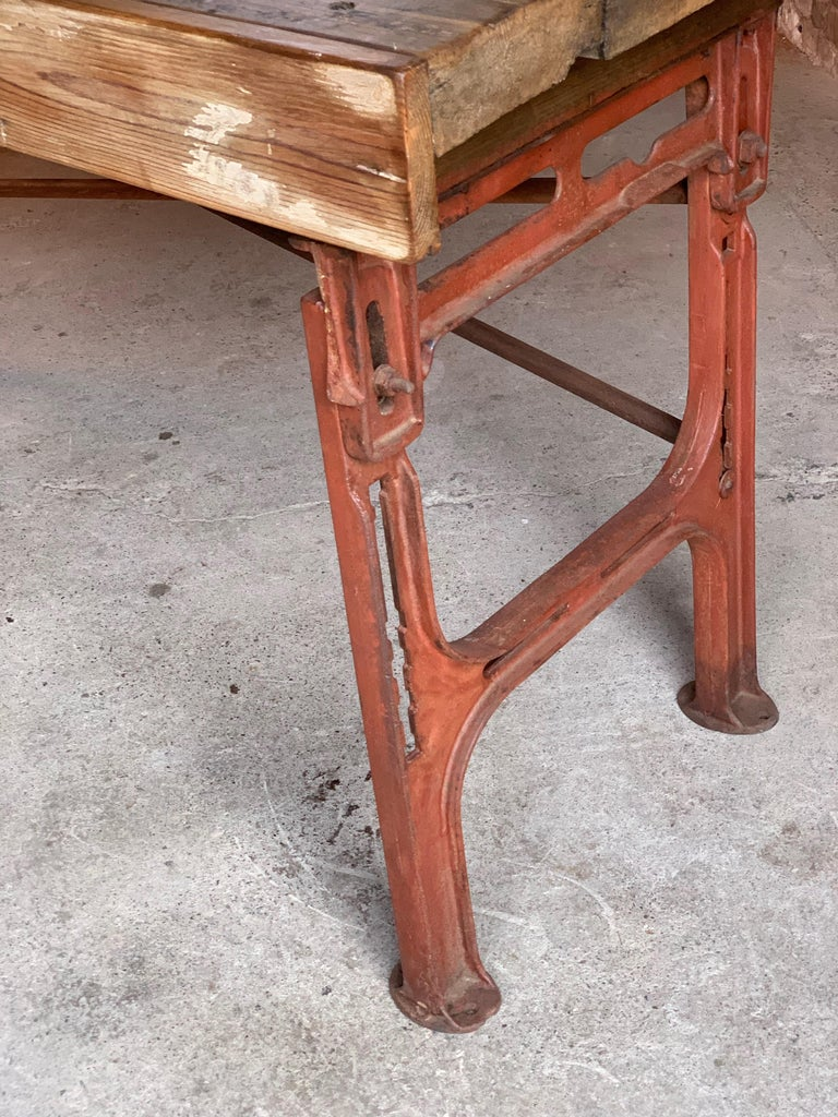 Victorian Industrial Workbench Table, circa 1868 For Sale 3