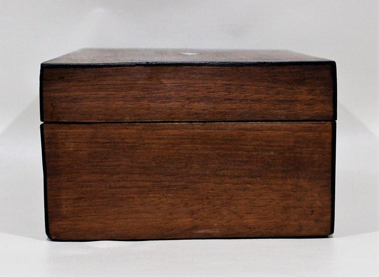 British Victorian Inlaid Box with Mother of Pearl For Sale