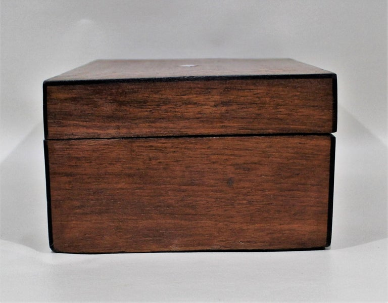 19th Century Victorian Inlaid Box with Mother of Pearl For Sale