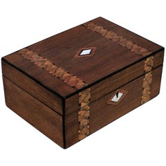 Victorian Inlaid Box with Mother of Pearl