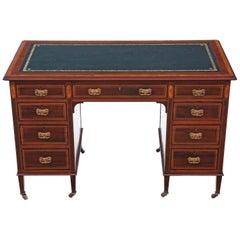 Victorian Inlaid Mahogany Twin Pedestal Desk JAS Schoolbred
