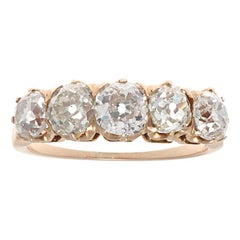 Victorian Inspired 2.82 Carat Diamond Gold Wedding Band