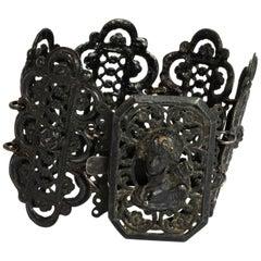Victorian Iron Work Panel Cuff Bracelet