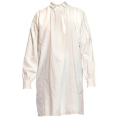 Victorian Ivory Linen & Cotton Men's Shirt From 1810-1830