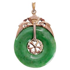 Victorian Jade Hololith Pendant Certified Untreated