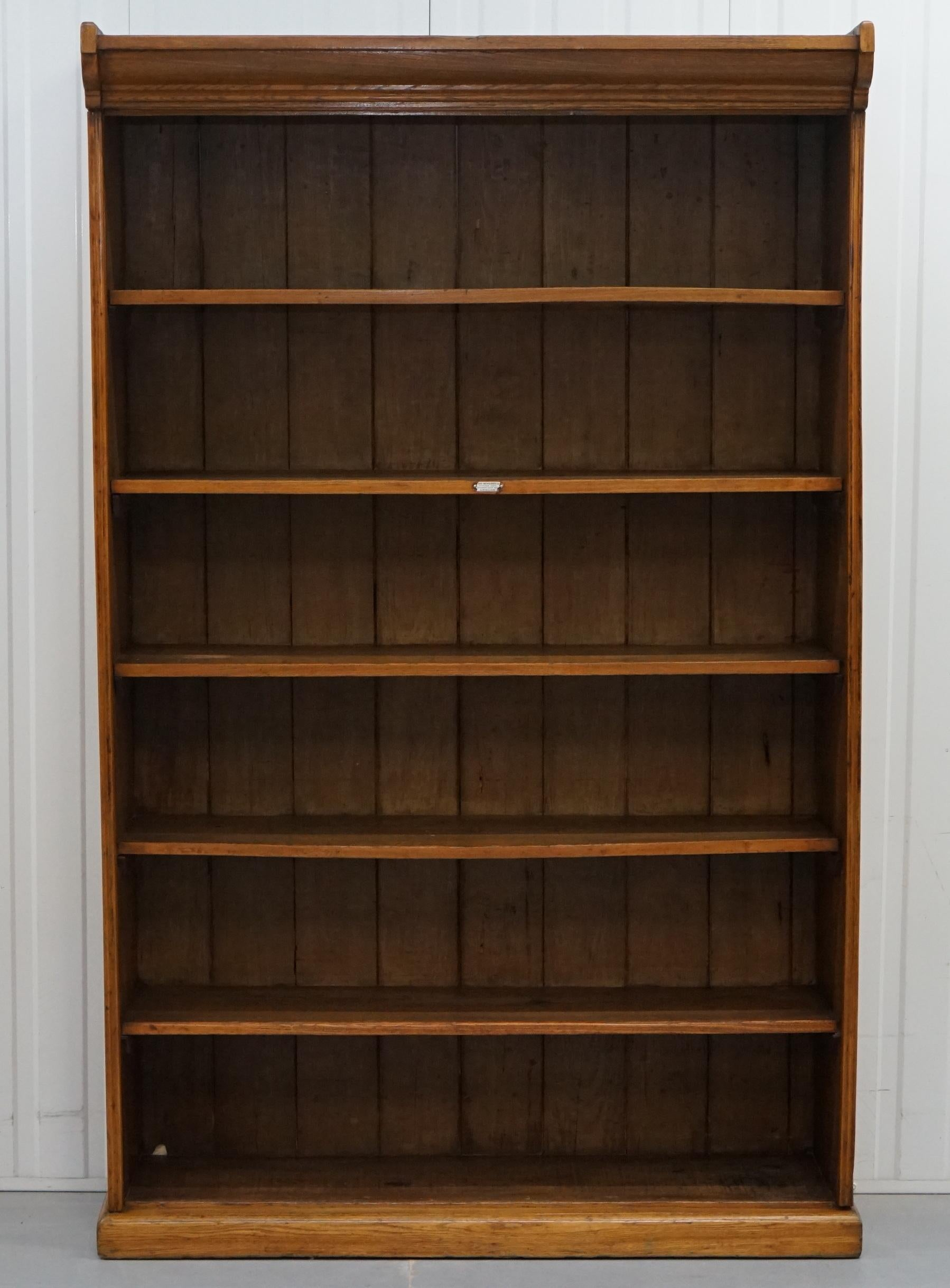 Victorian James Jas Shoolbred Solid Walnut Large Library