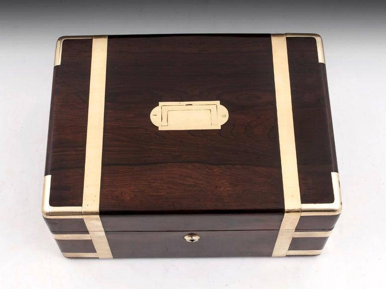British Victorian Jewelry Box, 19th Century For Sale