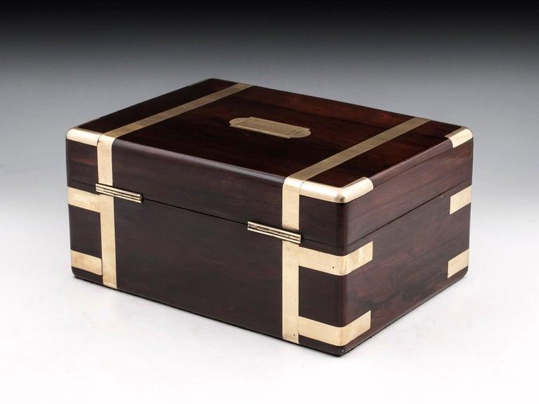 Velvet Victorian Jewelry Box, 19th Century For Sale