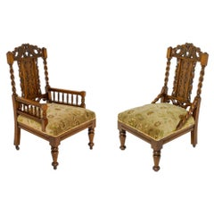 Victorian Ladies and Gents Chairs
