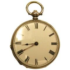 Victorian Ladies Silver Pocket Watch Dated circa 1890, Swiss Movement