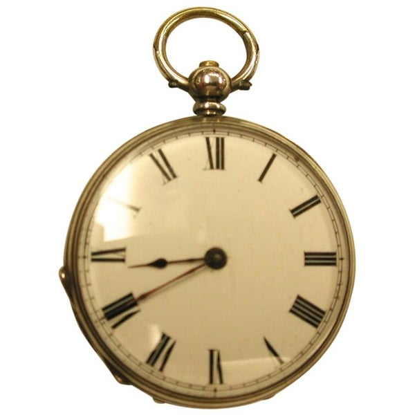 Victorian Ladies Silver Pocket Watch Dated circa 1890, Swiss Movement