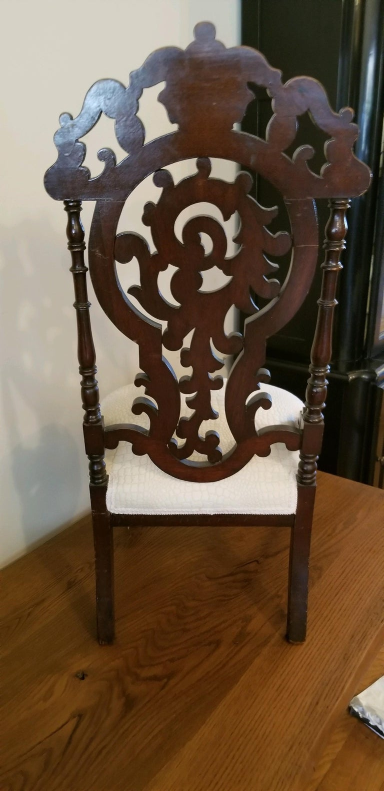 Carved Victorian Ladies Chair For Sale