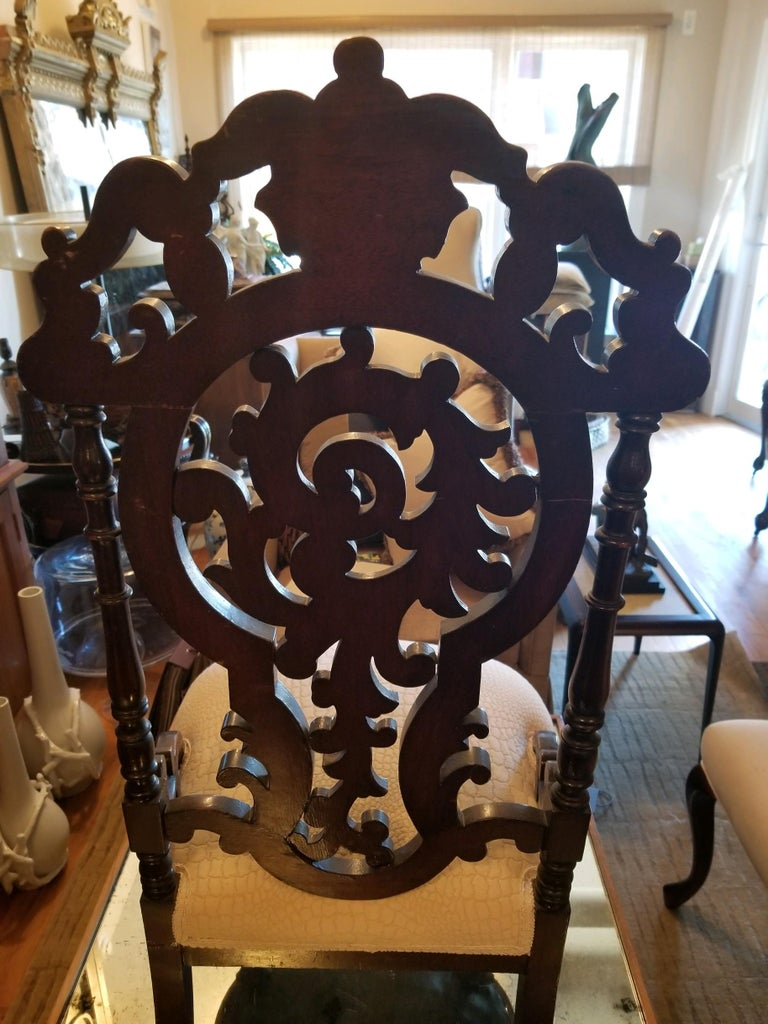 Victorian Ladies Chair In Good Condition For Sale In Boonton, NJ