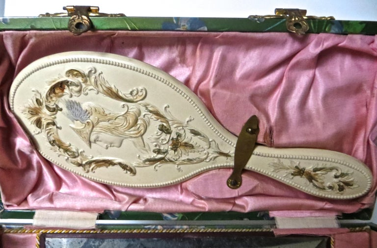 Victorian Lady's Necessaire Table Top Toiletry Box, American, circa 1900 For Sale 6