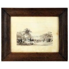 Victorian Landscape Drawing, Richard Paminter Cuff