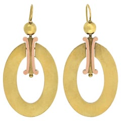 Victorian Large Two-Tone Hoop Earrings
