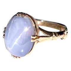 Victorian Lavender Periwinkle 11 Carat Star Sapphire Ring