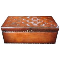 Victorian Leather Ottoman