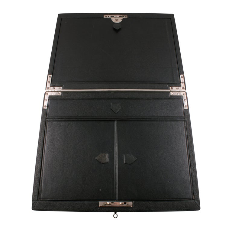 British Victorian Leather Stationery Box For Sale
