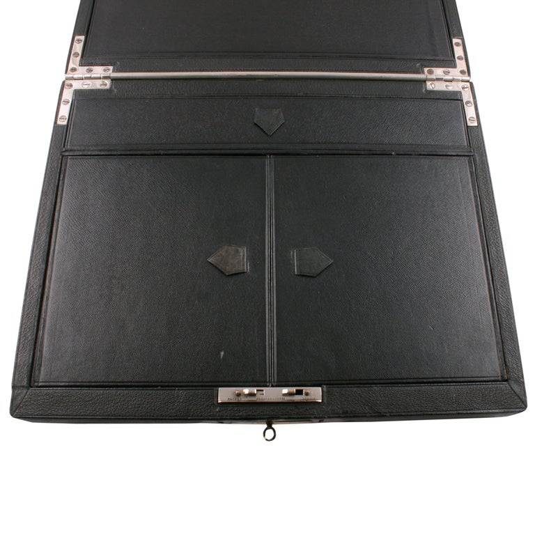 Victorian Leather Stationery Box In Good Condition For Sale In Newcastle Upon Tyne, GB