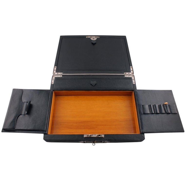 Late 19th Century Victorian Leather Stationery Box For Sale