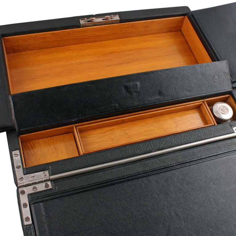 Victorian Leather Stationery Box For Sale 1