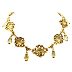 Victorian Lemon Citrine 18 Karat Gold