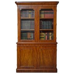Victorian Library Mahogany Bookcase