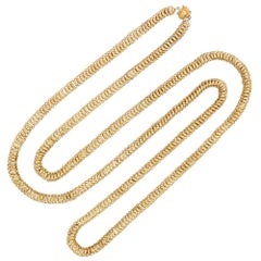 Victorian Long Yellow Gold Chain