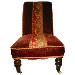 Victorian Low Back Reclining Chair