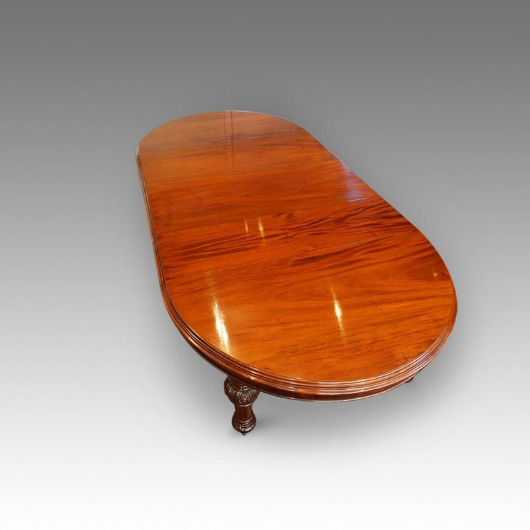 Dining Table Seats 12: Victorian Mahogany 12-Seat Extending Dining Table For Sale