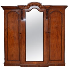 Victorian Mahogany 3-Door Wardrobe