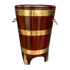 Victorian Mahogany and Brass Bound Peat Bucket