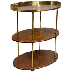 Victorian Mahogany and Brass Campaign Table