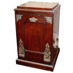 Victorian Mahogany and Oak Brass Bound Purdonium