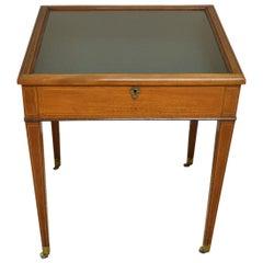 Viktorianischer Antiker Mahagoni Bijouterie Tisch