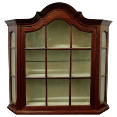 Victorian Mahogany Arch Top Astral Glazed Display Cabinet